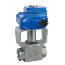 Шаровый кран, 2-ходовой, углеродистая сталь, Dn6-50, Pn350-500 BSP/NPT/приварка встык/ сварка внахлест с электроприводом