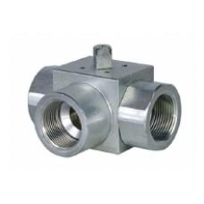 Шаровый кран, 3-ходовой, L-/Т-порт, углеродистая сталь, Dn6-25, Pn350-400 BSP/NPT/под сварку встык/под сварку внахлест